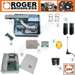 Roger BR21 Underground Gate Automation Kit Made by Roger Technology for Reliability and Strength in New and Existing Installed Single Gates.
