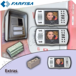 Farfisa Dual Property Intercom With and Without Keypad