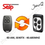 SEIP Gate Remote 40.685MHZ, Replaced by Jane Q Low-frequency Remote.