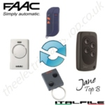 jane top b remote replaces the faac - t2 433 slh t24 433 slh xt2 433 slh xt4 433 slh tml2 433 slh tml4 433 slh