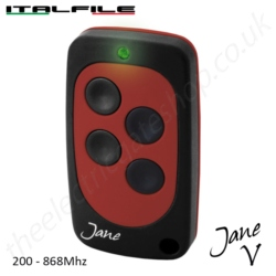Jane V 200-868 Mhz Cloning Remote - Red