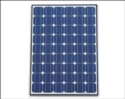 mono-crystalline solar panel.  this panel has been chosen for its excellent power conversion on cloudy days.