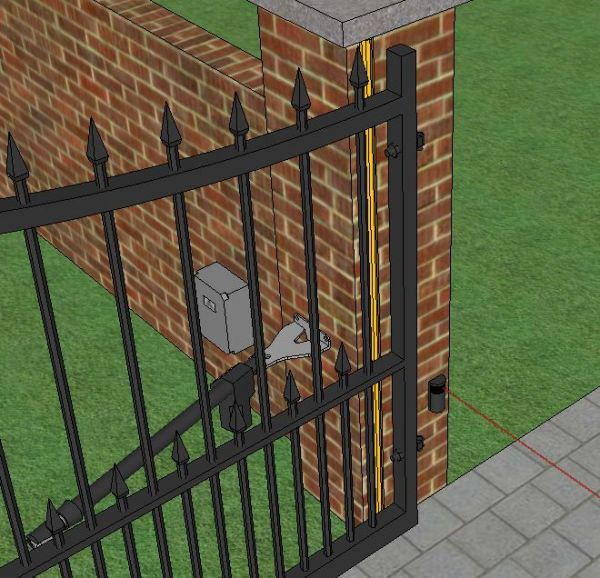 Double Swing Gate Centre Safety Edge