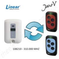 LINEAR Gate Remote 310.000MHZ, Replaced by Jane V Multi-frequency Remote.