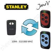 STANLEY Gate Remote 310.000MHZ, Replaced by Jane V Multi-frequency Remote.