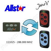 ALLSTAR Gate Remote 288.000MHZ, Replaced by Jane V Multi-frequency Remote.