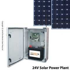 24v solar power kit ideal for brushless gate kits