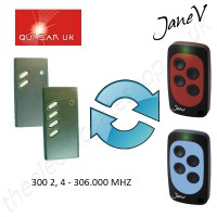 QUASAR Gate Remote 306.000MHZ, Replaced by Jane V Multi-frequency Remote.