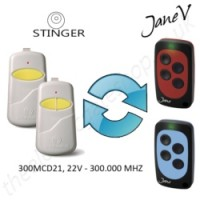 STINGER Gate Remote 300.000MHZ, Replaced by Jane V Multi-frequency Remote.