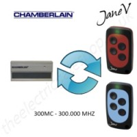 CHAMBERLAIN Gate Remote 300.000MHZ, Replaced by Jane V Multi-frequency Remote.