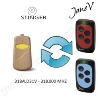 STINGER Gate Remote 318.000MHZ, Replaced by Jane V Multi-frequency Remote.