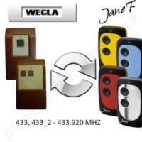 WECLA Gate Remote 433.920MHZ, Replaced by Jane F Remote.