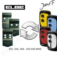 elbe gate remote 433.920mhz, replaced by jane f remote.