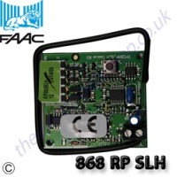 faac 868 rp slh transmitter for remote operation of electric gates.