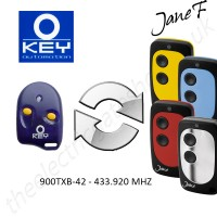 key automation gate remote 433.920mhz, replaced by jane f remote.