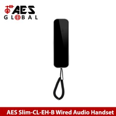aes slim-cl-eh-b wired audio intercom handset