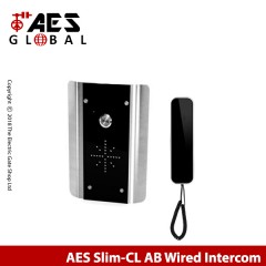 aes slim-cl ab wired audio intercom system