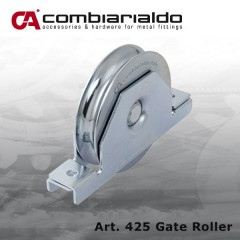 Gate roller,  three sizes available - 80, 90 & 120mm Dia.