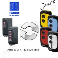 fadini gate remote 433.920mhz, replaced by jane f remote.