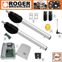 roger technology be20/400 24v long arm twin kit