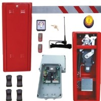 entry barrier red full spec.- 14 seconds opening time.  will open up to 6m boom.