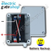 for use with any of our 12v electric gate kits. battery backup 12vdc