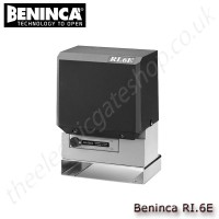 beninca ri.6e 230vac motor for sliding gates weighing upto 600 kg, for residential use, supplied with control unit and plug-in for receiver