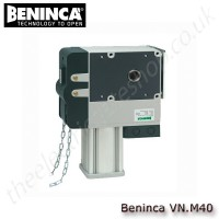 beninca vn.m40, 230vac self-locking electromechanical operator with chain unlock device, for industrial use
