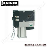 beninca vn.mt20, 400vac self-locking electromechanical operator with chain unlock device, for industrial use