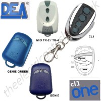 cl-one all for one remote, dea genie, green, wood, tr2/4 gate key fob. the cl1 chrome finished remote replaces the remotes listed, and features 1-4 button and easy change battery.