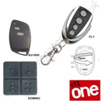 cl-one all for one remote, gibidi au1600, domino, cl-one gate key fob. the cl1 chrome finished remote replaces the remotes listed, and features 1-4 button and easy change battery.