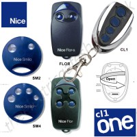 cl-one all for one remote, nice sm2, sm4, flor, cl-one gate key fob. the cl1 chrome finished remote replaces the remotes listed, and features 1-4 button and easy change battery.