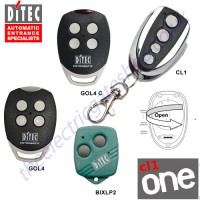 cl-one all for one remote, ditec gol4, gol4c, bixlp2 gate key fob. the cl1 chrome finished remote replaces the remotes listed, and features 1-4 button and easy change battery.