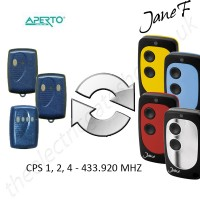 APERTO Gate Remote 433.920MHZ, Replaced by Jane F Remote.