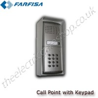 farfisa additional audio call point with keypad
