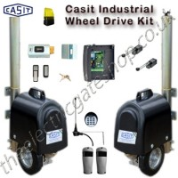 casit twin swing wheel drive system for large industrial gates.