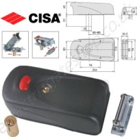 Electric Gate lock with 'rotary hook deadbolt' & high strength, protective steel casing. For use with electric & pedestrian gates.