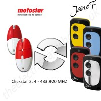 motostar gate remote 433.920mhz, replaced by jane f remote.