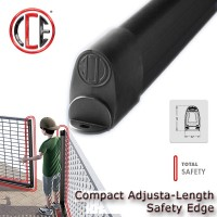compact adjusta safety edge. has the same footprint as the compact eco and can easily be cut to any size, without the need to use glue or sealants. the next generation of resistive edges.