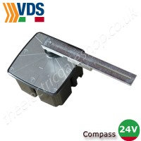 vds compass 24v motor & arm.  suitable for small domestic  gates up to 1.8m per wing.