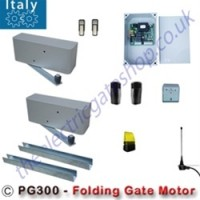 the pg300 from italy, 24v twin folding gate motor is an ideal solution for automated folding gates. allowing big gates to be put into small spaces.