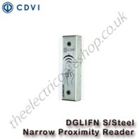 cdvi dgli narrow s/steel outdoor proximity reader suitable for indoor and outdoor use including harsh conditions.