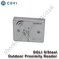 cdvi dgli stainless steel outdoor proximity reader suitable for harsh environments and with tri coloured leds