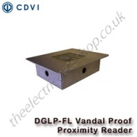 dglp fl vandal resistant proximity reader made from sturdy stainless steel and fit flush to the wall.