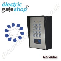 dk-2882 stainless steel programmable access control keypad and proximity reader with up to 1000 users!