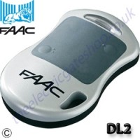 faac dl2 868slh transmitter for remote operation of electric gates.