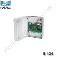 faac e 124 / e124 230v ac control panel with programmable multifunction outputs.