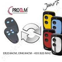 PROEM Gate Remote 433.920MHZ, Replaced by Jane F Remote.