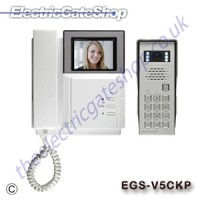 door entry system with colour video display, keypad and phone answer system