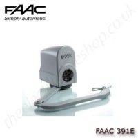 faac 391e, electro-mechanical operator with articulated arm, for swing gates up to 2m per leaf